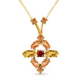Kette mit Swarovski Kristallen, Vergoldet mit 18 K LC