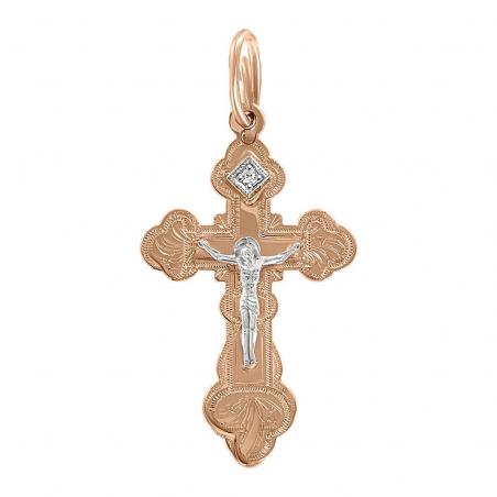 Подвеска  крест с фианитом