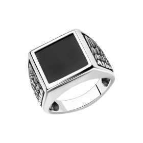 Mужское кольцо с ониксом